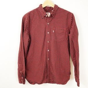 Levi's Red Black Buffalo Plaid Button Down Shirt